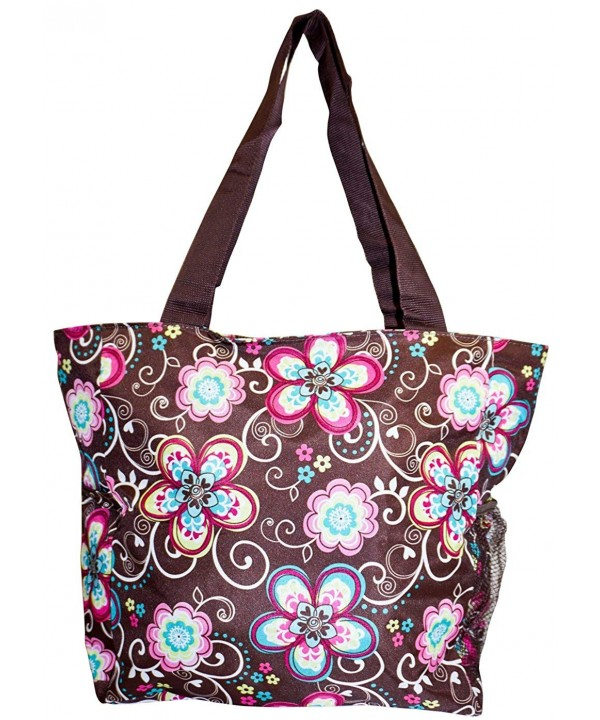 Brown Pastel Floral 19 inch Travel