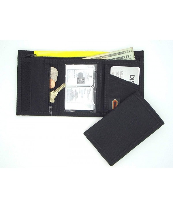 Trifold Hook Wallet Zipper Pocket