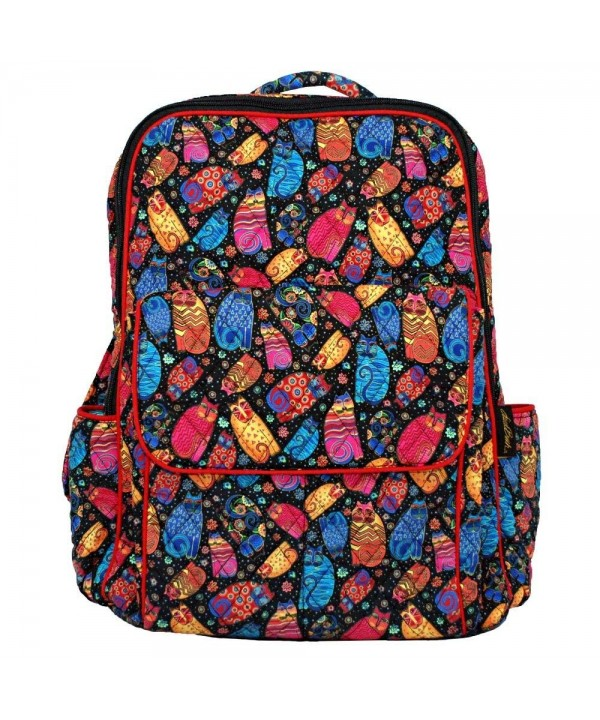 Laurel Burch Feline Quilted BackPack