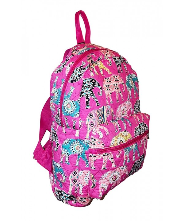SazyBee Quilted Womens Backpack Embroidery
