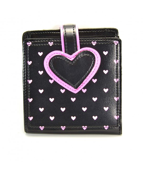 Heart Print Bifold Rockabilly Wallet