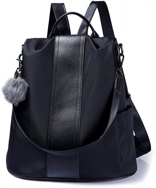 Backpack Waterproof Anti theft Rucksack Nylon Black