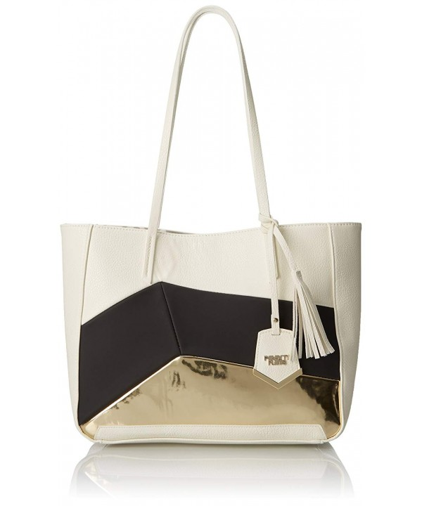 POVERTY FLATS Panel Shopper Tote