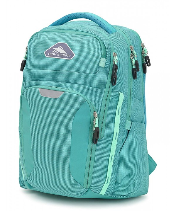 High Sierra Backpack Turquoise Aquamarine