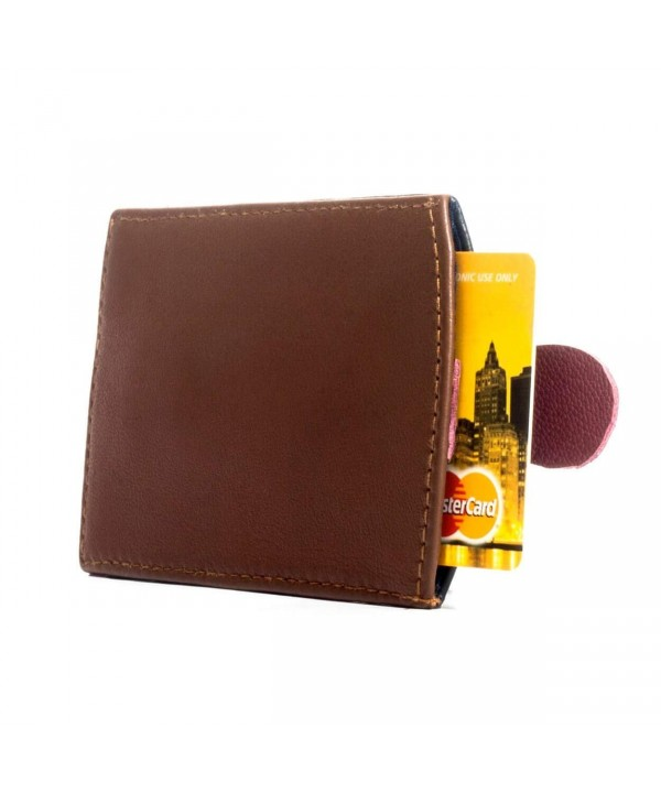 Leather Wallet Credit Holder Caramel
