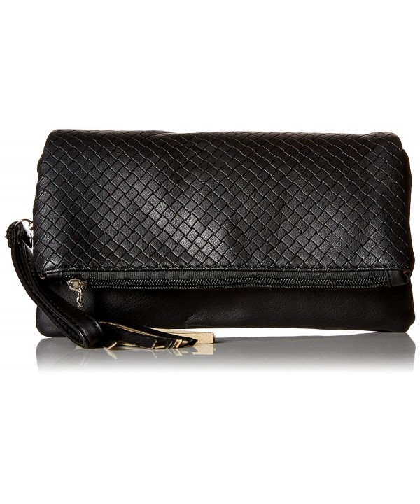 Midnight Textured Leather Quilted Compartment
