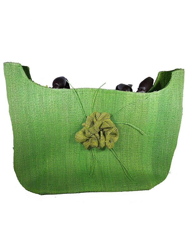Gigi Ann Straw Handbag Green