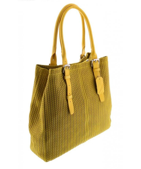 Collection Yellow Leather Shopper womens