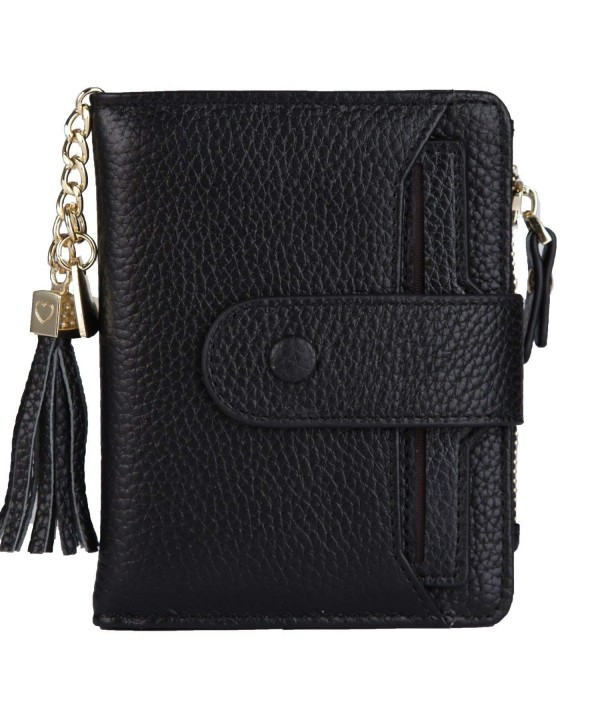 Womens Leather Wallet Window Sleeve