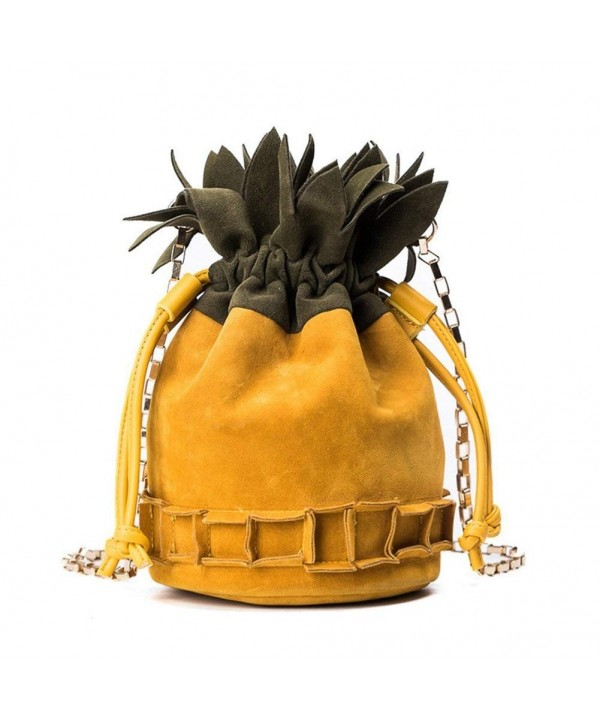 JUMENG Pineapple Crossbody Drawstring Shoulder