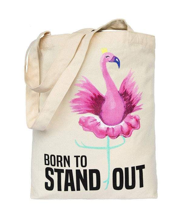 Flamingo Printed Canvas Cotton Handbag