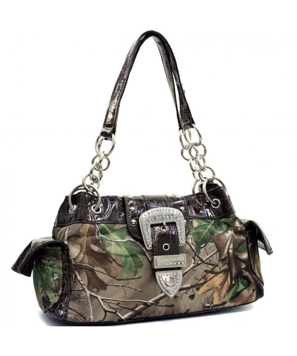 Realtree Camouflage Buckle Shoulder Handbag