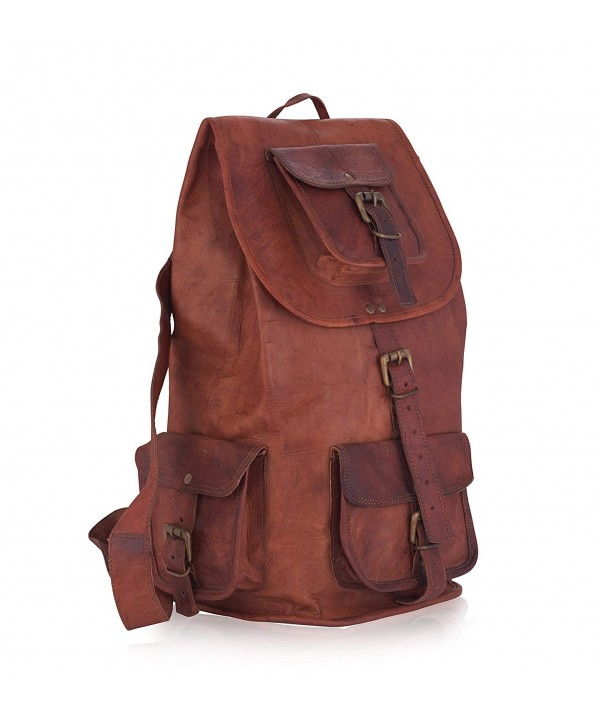 Genuine Leather Backpack Rucksack Satchel