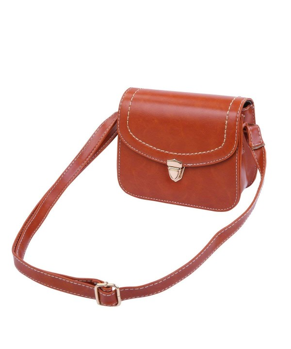 Leather Clutch Crossbody Shoulder Orange