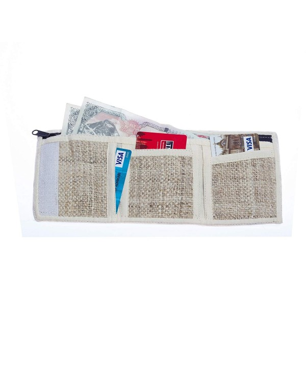 Kamama Natural Hemp Trifold Wallet
