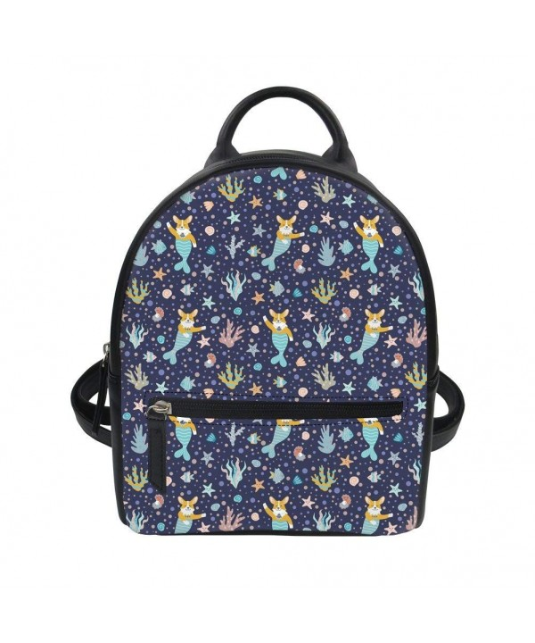 Coloranimal Mermaid Backpacks Shoulder Knapsack