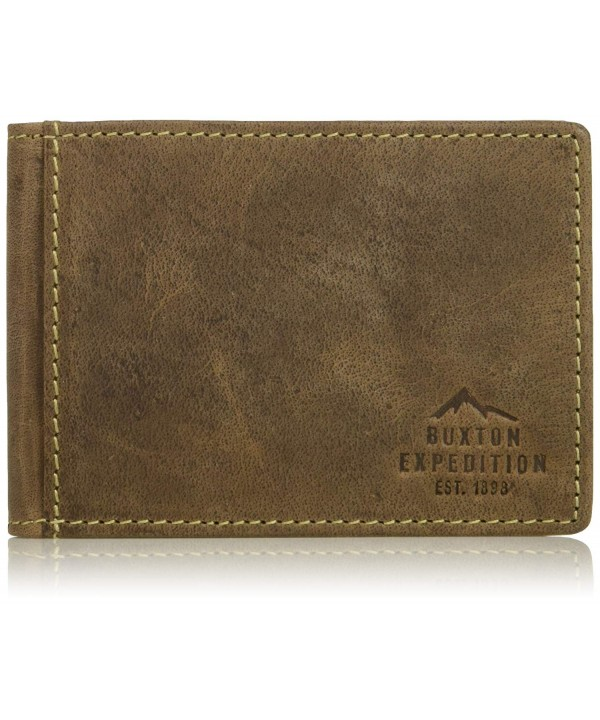 Buxton Expedition Leather Pocket Wallet