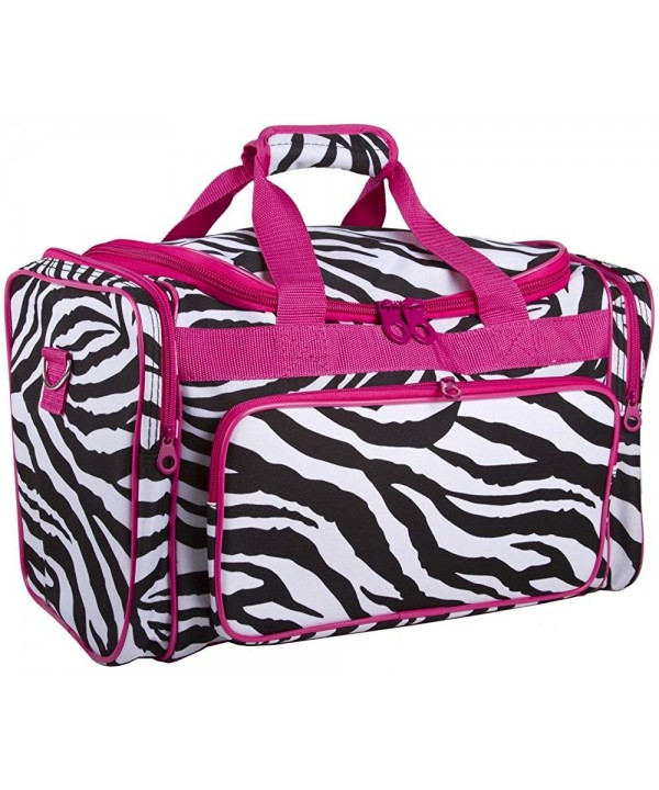 Ever Moda Zebra Print Duffle