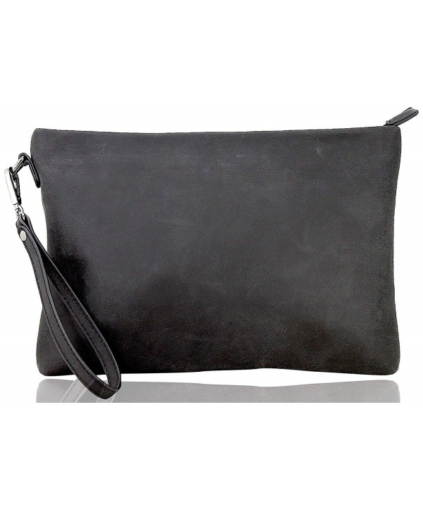 LIe be Clutch Mens leather black