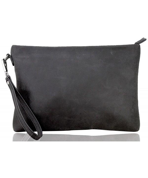 LIe be Clutch Mens leather black