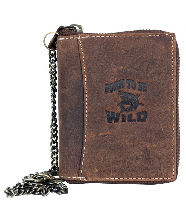 Zip around Genuine Leather Wallet Born