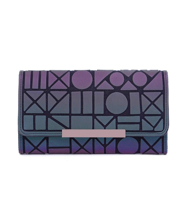 Geometric Rhomboids Lattice Wallet Purse