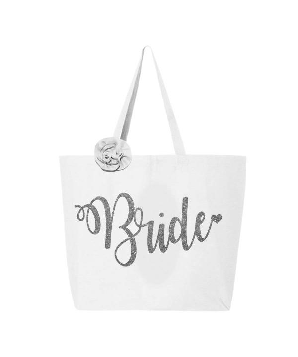 Classy Bride Glitter Tote Bag
