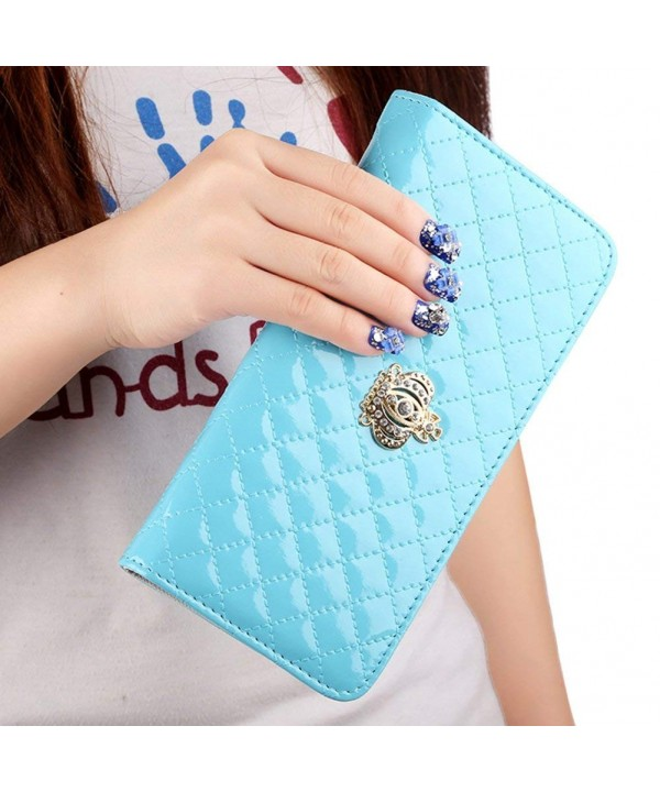 FUNOC Women Clutch Wallet Leather