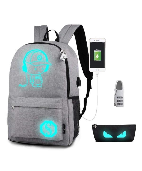 Luminous Backpack Charging Shoulder Rucksack