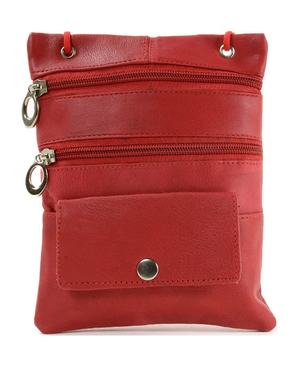 Leather Organizer Shoulder Pocket Handbag