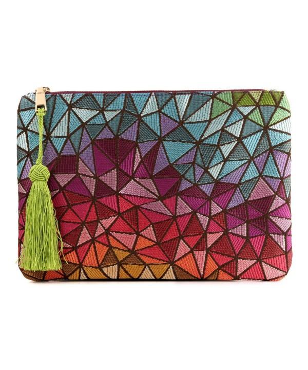 72166d1d62ae Women Red Crystal Finger Evening Party Handbags Shoulder Bag - Pink ...