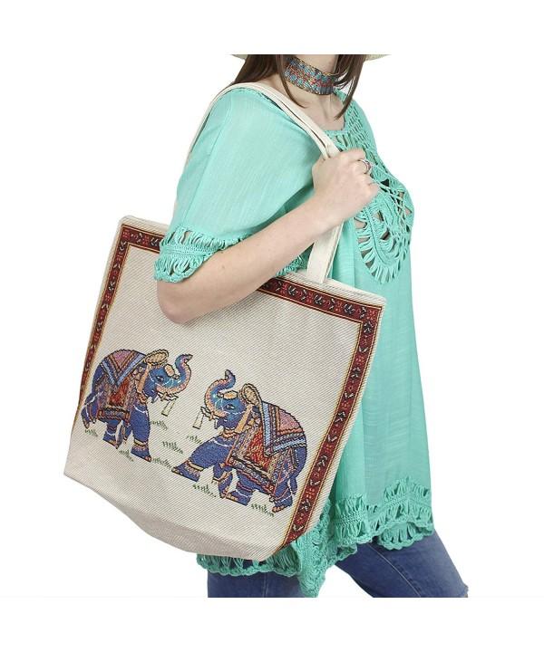 Elephant Handbag Oversized Jacquard Texture