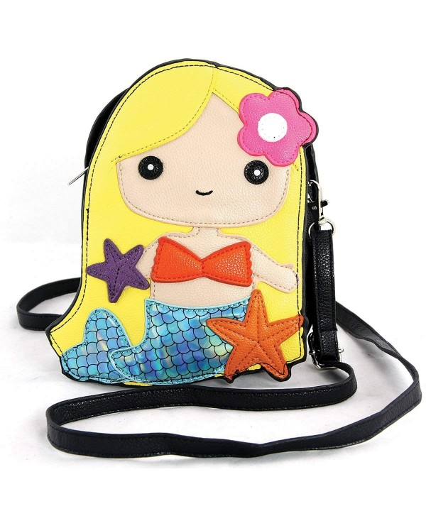 Sleepyville Critters Mermaid Cross Body Satchel