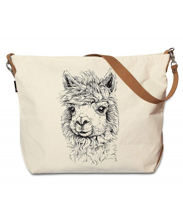 Drawing Animals Printed Canvas Leather