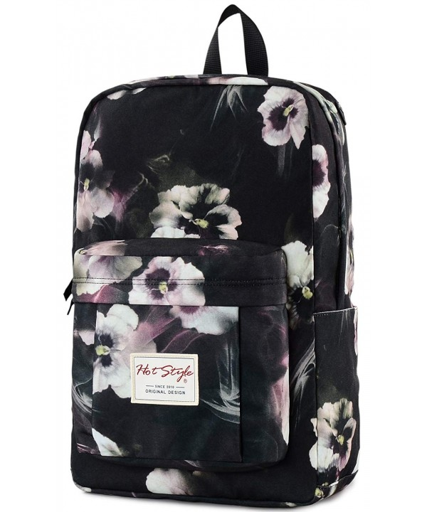 Trendy College Backpack Floral Bookbag