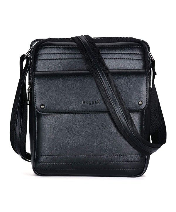 Men Shoulder Bag- Crossbody Bags for Men PU Leather Messenger Bag ... eb5b4025102