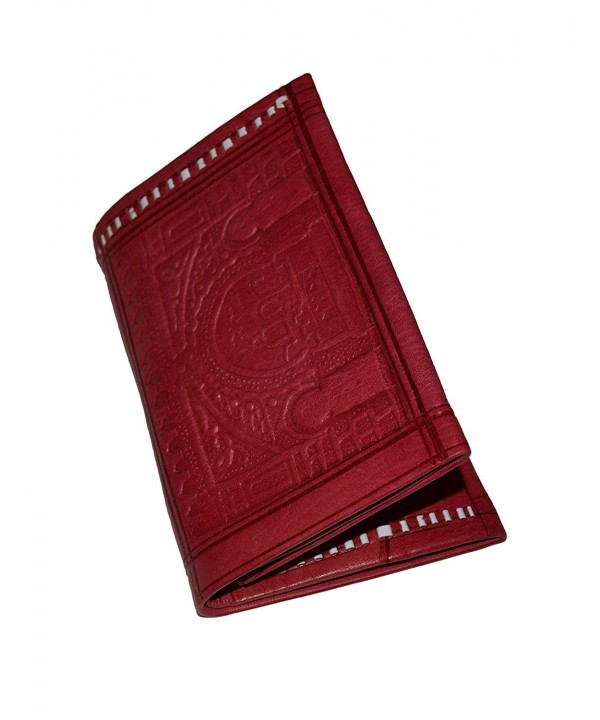 Leather Wallet Large Exquisite Red