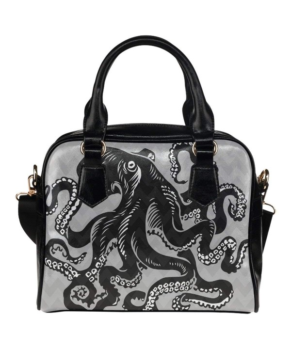 InterestPrint Custom Leather Shoulder Handbags