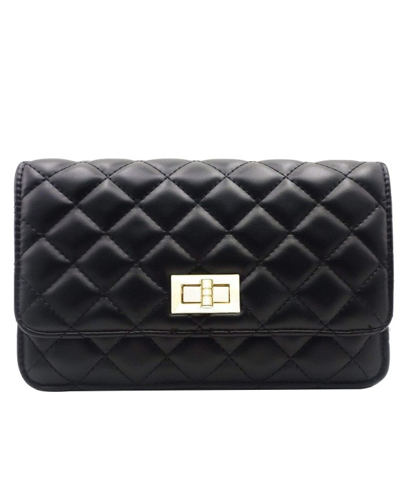 Gemate Genuine Leather Quilted Shoulder