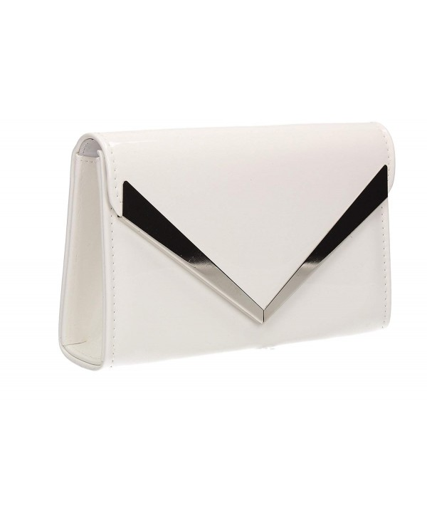 Envelope Patent Leather Wedding Shoulder