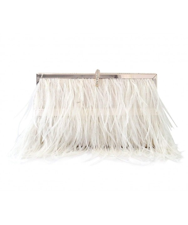 ZAKIA Natural Ostrich Feather Shoulder