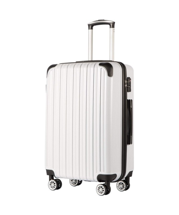 Coolife Luggage Expandable Suitcase Spinner