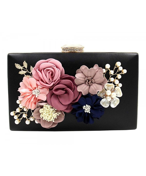 Womens Flower Dinner Clutch Evening