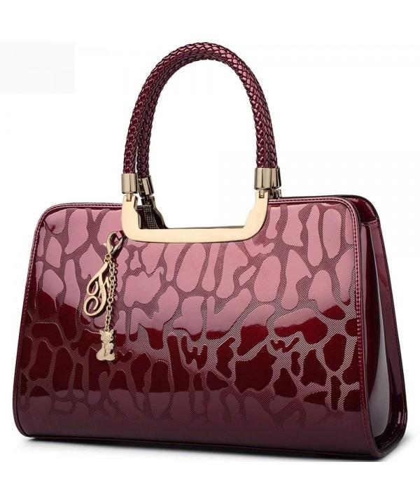 FOXER Handbag Leather Handle Shoulder