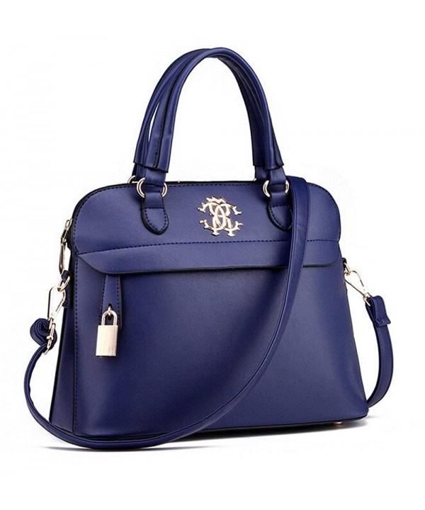 Forkidlove Boutique Leather Handbag Darkblue