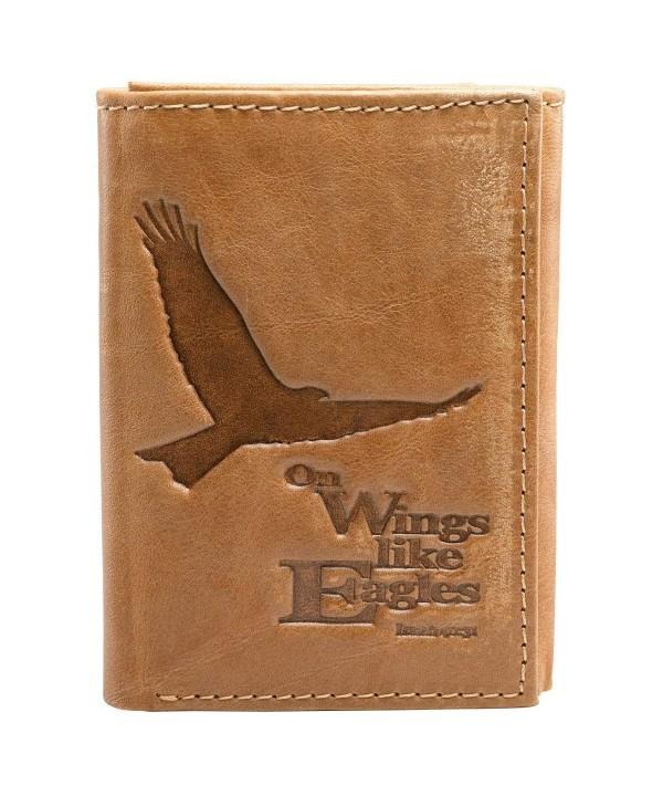 Saddle Genuine Leather Tri Fold Wallet