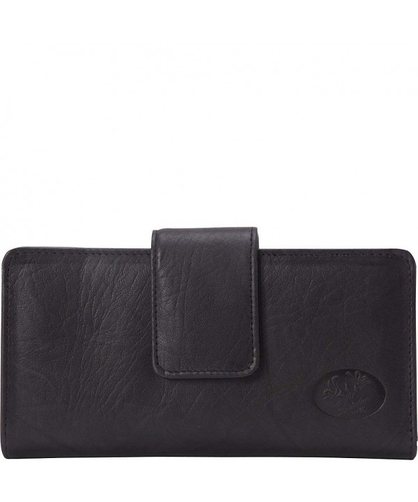 Buxton Heiress Metropolitan Wallet Black