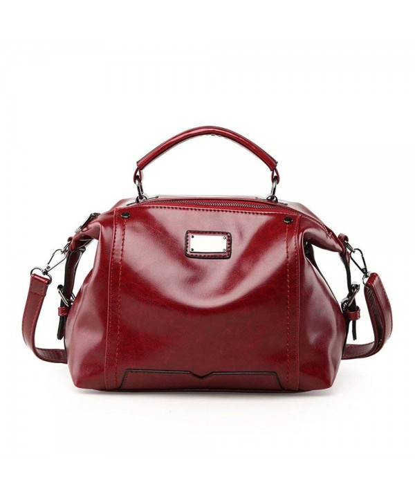 NIGEDU Handbags Vintage Leather Messenger