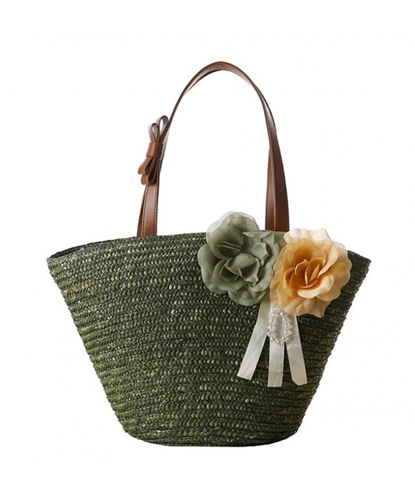 Tonwhar Woven Shoulder Flower Handbag