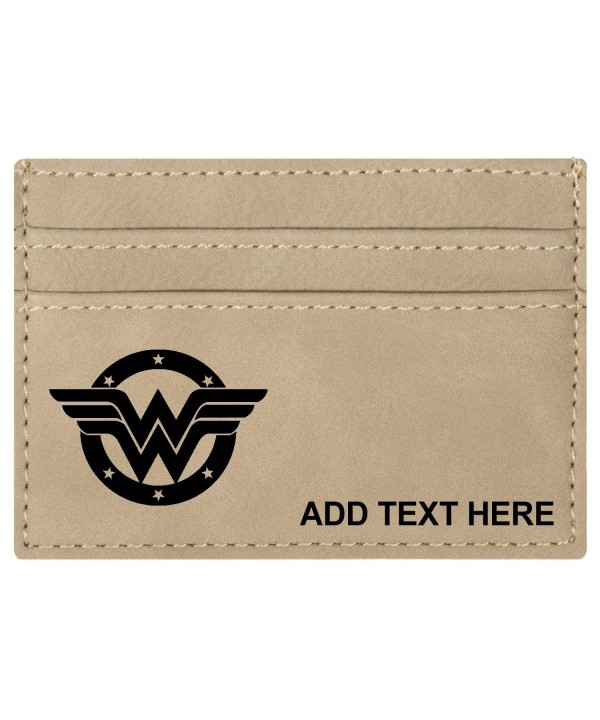 Personalized Engraved Wonder Leatherette Moneyclip